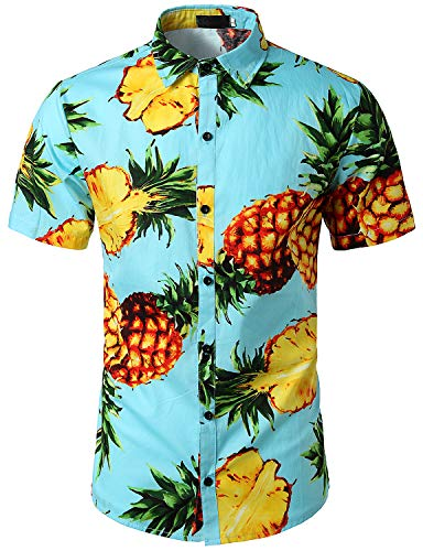 SOWTEE Men's African Style Printed Fashion Casual Short Sleeved T Shirt X-Large Blue -