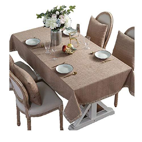 Kaki 140x140cm HPSD Linge de Table Table de fête pour Restaurant de Cuisine, Nappe Chenille Rectangle, imperméable, intérieur ou extérieur (Couleur   Kaki, Taille   140x140cm)