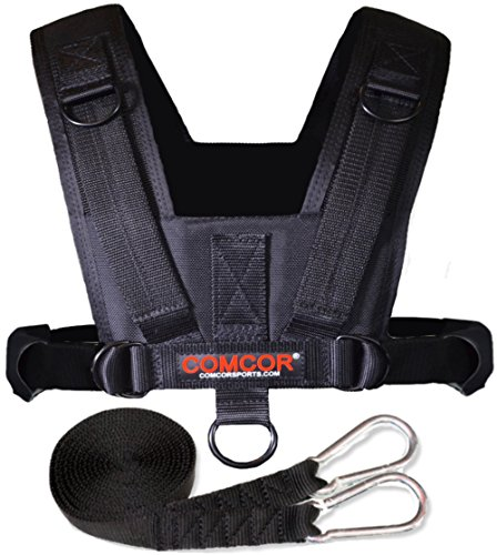 Upper Harness - ComCor Pro Sled Harness - Adult Size - Includes 9' Pull Strap - Pulls Forward and Backward