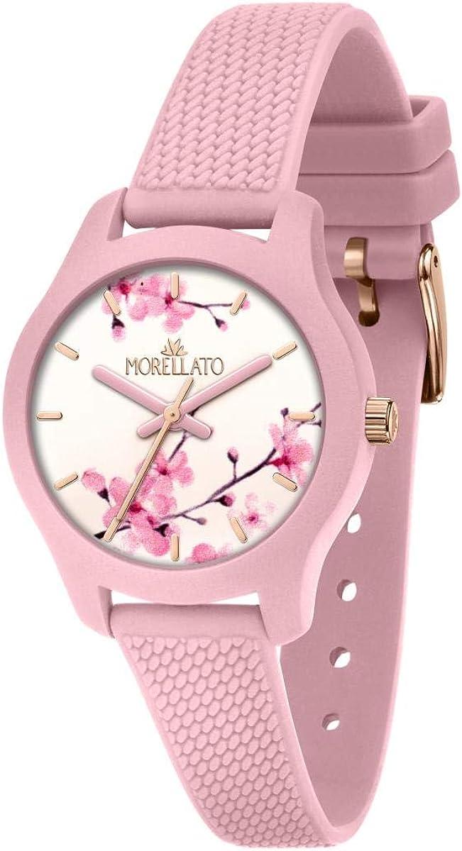 Morellato Reloj para Mujer, Colección Soft, en Poliuretano, Silicona, con Correa de Silicona - R0151163506