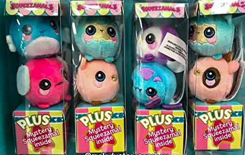 squeezamals Mini Grape Scented Plush Toys 3 Pack with Mystery Included (Styles May Vary) Squeeze Stress Animals Soft Cute Slow Rise ()
