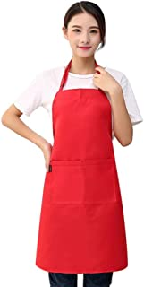 Bluelucon Men Women Adjustable Multi-Colors Cooking Aprons Anti-Oil BBQ Restaurant Home Kitchen Working Apron, Oxford, with Double Pockets