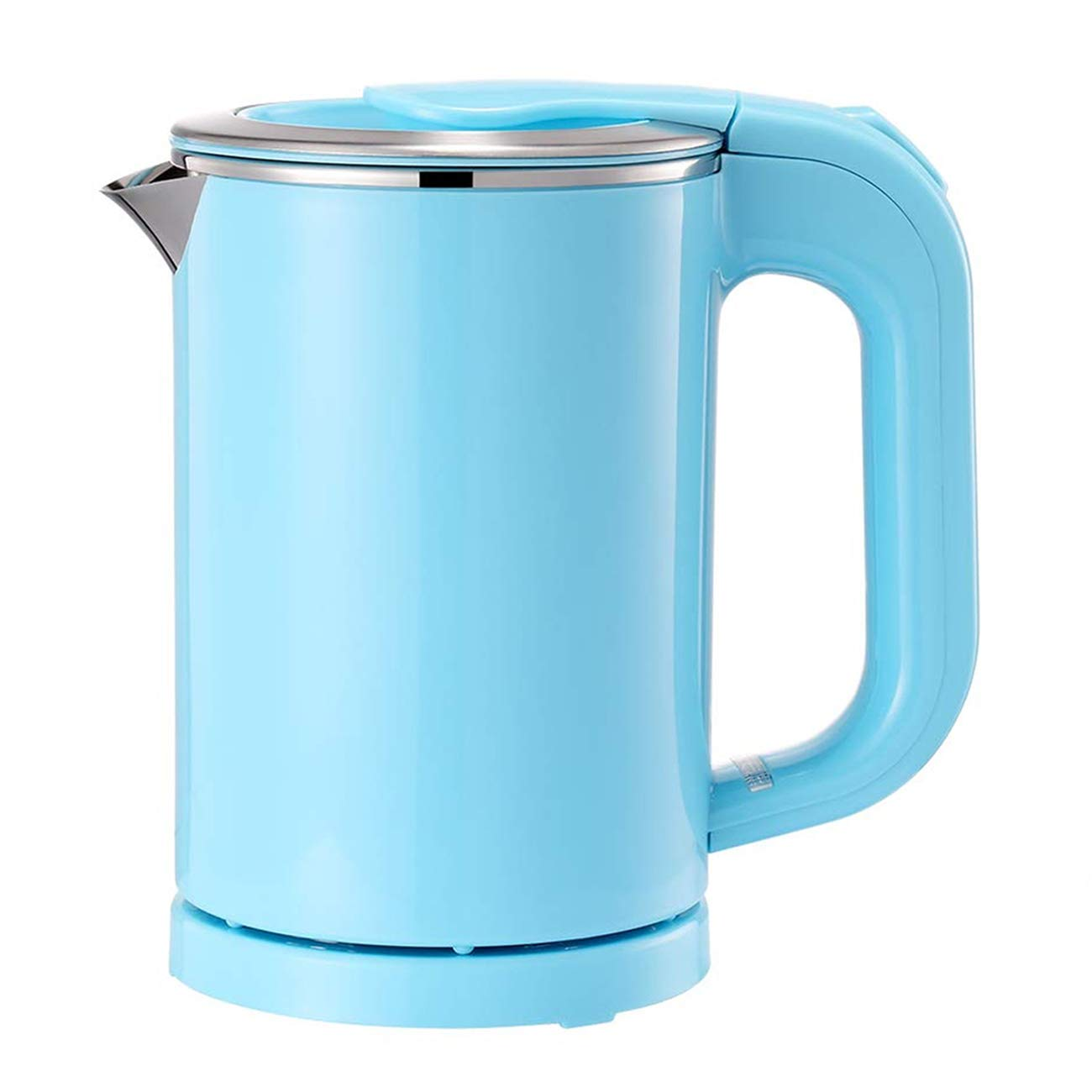 Portable Electric Kettle - 0.5L Mini Stainless Steel Travel Kettle - Water Touch Inner Surface without Plastic & Cool Touch Outer Surface (Blue)