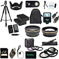 Canon EOS 1D Mark IV USA Ultimate Professional Accessory Bundle Package - EVERYTHING YOU WILL EVER NEED - Includes: 52mm Pro 3 Piece Multi Coated Filter Kit + 52mm Pro .43x Wide Angle Lens + 52mm Pro 2.2x Telephoto Lens + 52mm Close-Up Macro Lens Set + 2x Li-Ion Rechargeable Batteries + Rapid AC/DC External Charger + Tulip Lens Hood + 64GB SDHC Memory Card + High Speed USB Memory Card Reader + Pro SLave Flash + Pro 72 inch Tripod + Wireless Remote + Pro Gold Plated Mini HDMI Cable Deluxe + Backpack Carrying Case + Cap Keeper + Deluxe Starter Kit + Lens Cleaning Pen + SharpBuys MicroFiber Cloth - For use with the 50mm EF 1.8 Lens lenses
