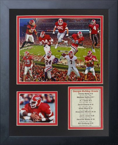 Legends Never Die Georgia Bulldogs Greats Framed Photo Collage, 11 by 14-Inch