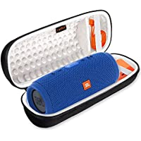 Canboc Shockproof Carrying Case for JBL Charge 3 Waterproof Portable Wireless Bluetooth Speaker. Storage Travel Bag Fits USB Cable and Charger, Black