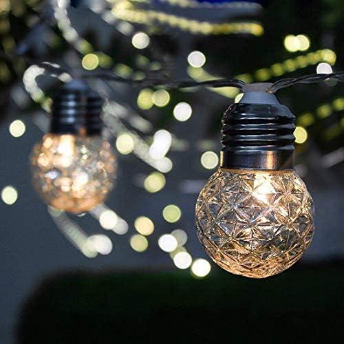 GJNVBDZSF Tiras, Bombillas para Exteriores, 3.8M 10 Bombillas solares LED Tiras para Luces Impermeables con 2 Modos de iluminación para Exteriores, jardín, Decoraciones navideñas EL