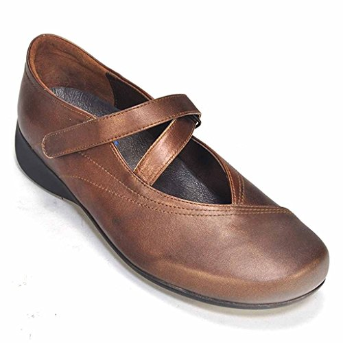 Wolky Comfort Mary Janes Silky 846 Copper Met