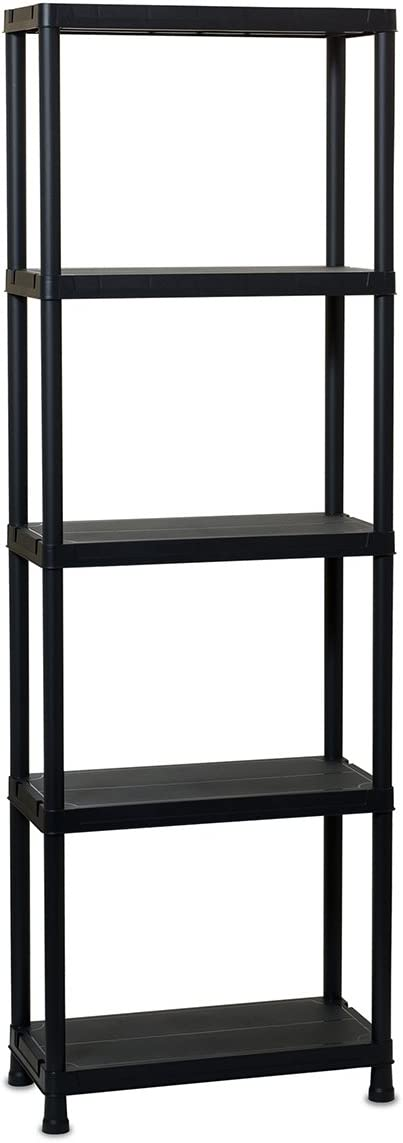 TOOMAX 180 x 60 x 30cm Universal Shelving 63-5 Maxi Shelf Unit with 5 Shelves - Black