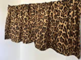 Valance Leopard Print Big Cat Custom Made Window Treatment