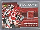 2006-07 Upper Deck Hockey Martin Brodeur Game Used Jersey Card # J-MB
