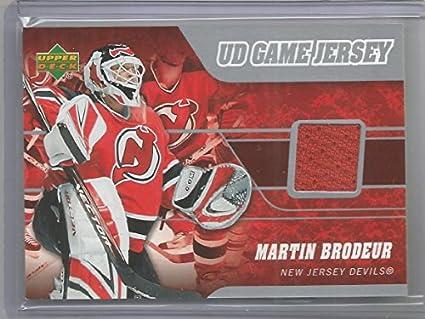 Amazon Com 2006 07 Upper Deck Hockey Martin Brodeur Game Used