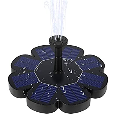 Ankway Solar Fountain Pump 1.6W Solar Birdbath Fountain Adjustable Waterflow Sprinkler Fountain Filter Outdoor Bird Bath, Pond, Pool, Fish Tank, Patio Garden Decoration (Upgraded Version)