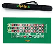 Sure Stick Rubber Foam Roulette Table Top Layout Green