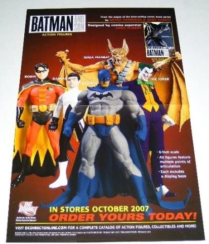 Amazon.com: DC Direct Batman and Son Action Figures 17 by 11 ...