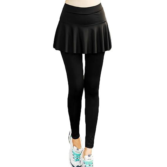 90356e16ec Juleya Women Leggings Skirts Quick Dry Yoga Pants Sports Pants 2 Piece Soft  Comfortable Tights Skirt