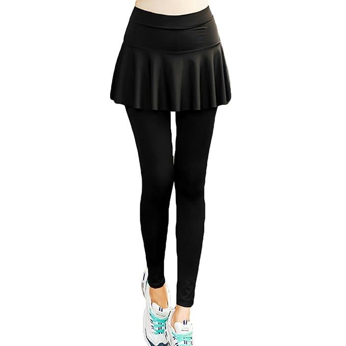 Pantalones Deportivos Mujer Leggings Falda - Hibote ...