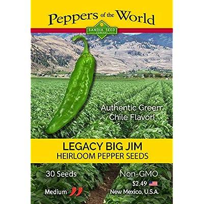 Big Jim Legacy Hatch Variety - 30 Seeds - Authentic Green Chile Flavor! Mild-Medium Heat : Garden & Outdoor