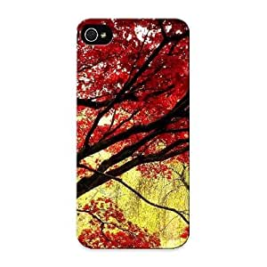 Hot Design Premium Omtpdg-5804-hlcanvv Tpu Case Cover Iphone 5/5s Protection Case (maple Tree On Gold) Kimberly Kurzendoerfer