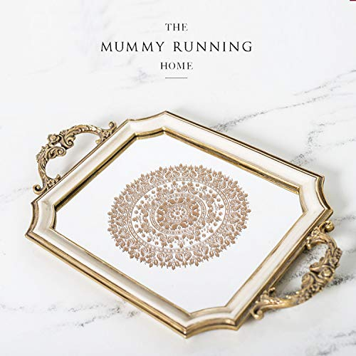 (European Rectangle Box Compote Tray Pastry Disc Cake Dessert Platform Cake Frame Of Furniture For Display Rather Than For Use)