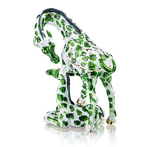 Resting Giraffe and Baby Figurine BOX Crystals Mother and Child Jewelry Box, Trinket or Pill (Giraffe Crystal Jewelry)
