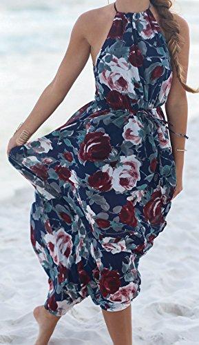 erdbeerloft - Vestido - Opaco - para mujer Mehrfarbig-Blau 46
