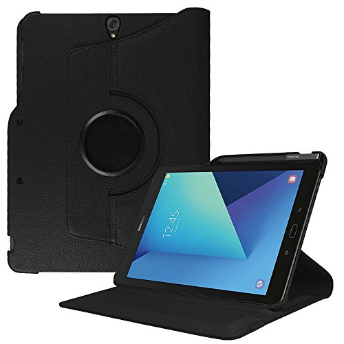 Fintie Rotating Case for Samsung Galaxy Tab S3 9.7, Premium PU Leather 360 Degree Swivel Stand Cover with S Pen Protective Holder Auto Sleep/Wake for Tab S3 9.7(SM-T820/T825/T827) 2017 Release, Black