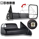 Towing Mirrors SCITOO High Performance Automotive Exterior Mirrors Pair Rearview Mirrors with Power Heated LED Turn Signal Towing For 2002-2008 Dodge Ram 1500 2003-2009 Ram 2500 3500