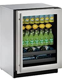 U-Line U3024BEVS00B 24 Built-in Beverage Center, Stainless Steel