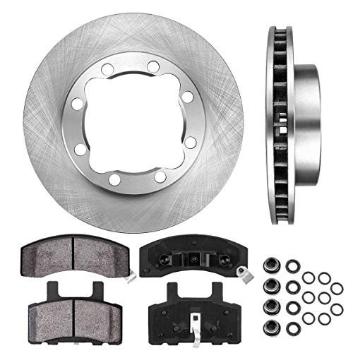 - FRONT 317 mm Premium OE 8 Lug [2] Brake Disc Rotors + [4] Ceramic Brake Pads + Clips