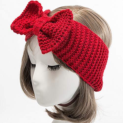 Haarband Schleife Damen Winter Cooljun wärmer Design Winter Wein ...