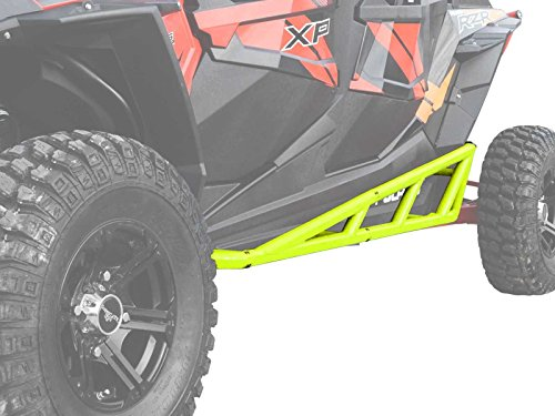 SuperATV Nerf Bars/Tree Kickers/Rock Sliders for Polaris RZR XP 4 1000 (2014+) - Lime Squeeze - Compatible With Our Full Protection Kit!