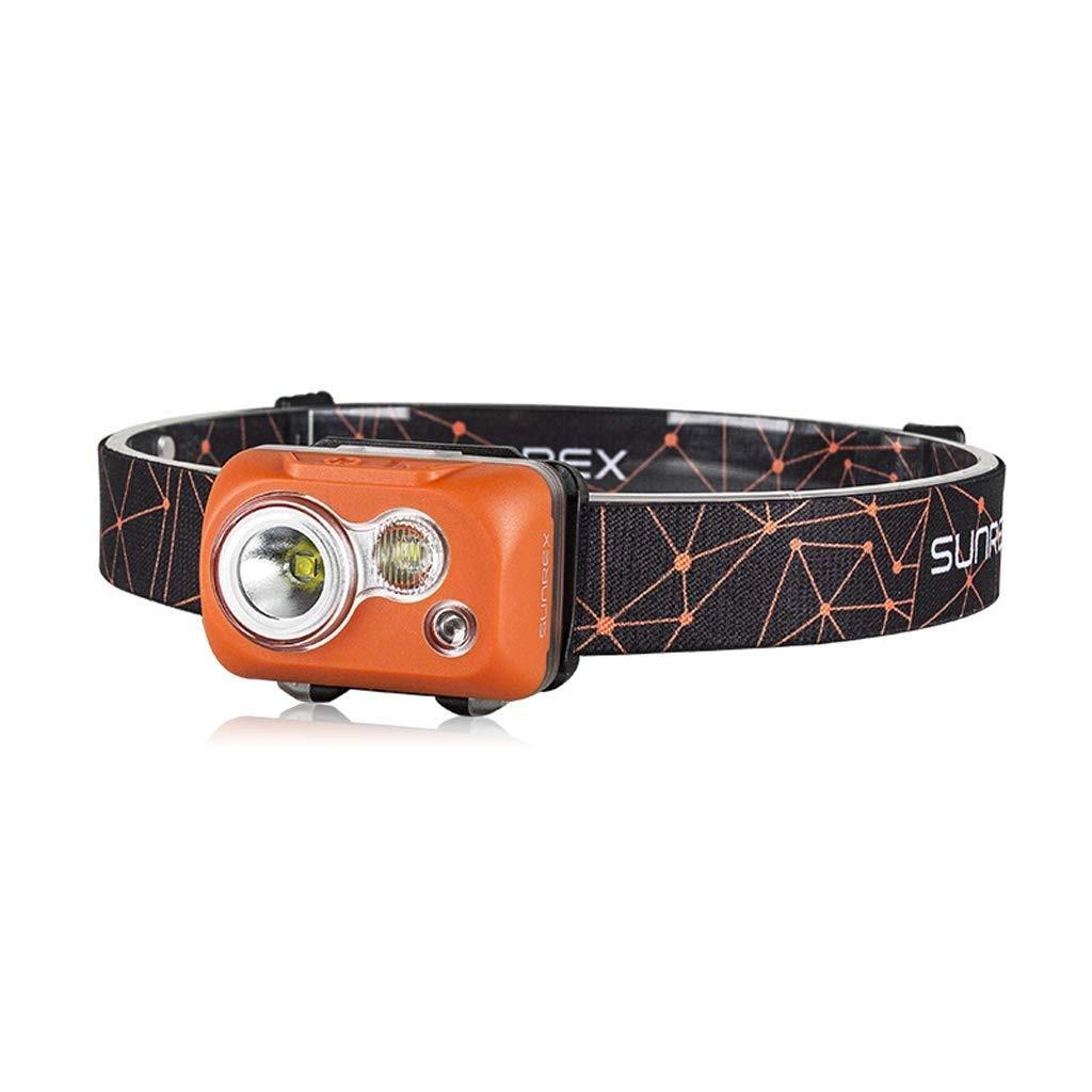YEXIN USB Wiederaufladbare 5 Modi LED Stirnlampe Scheinwerfer Scheinwerfer Super Helle Wasserdichte Leichte Komfortable für Laufen Angeln Camping Wandern Kinder