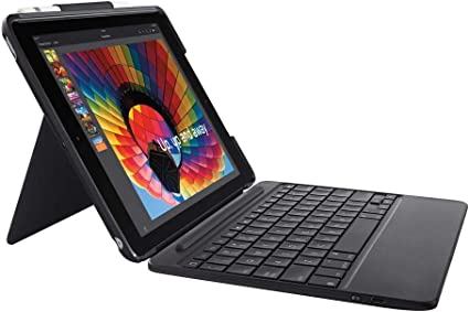 Logitech Slim Combo Case with Detachable Backlit Bluetooth Keyboard for iPad 5th amp 6th Generation Black at Kapruka Online for specialGifts