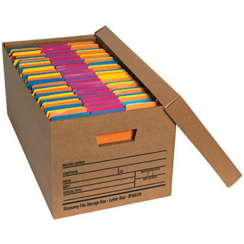 Letter Size Economy File Storage Boxes with Lids (Box of 12)