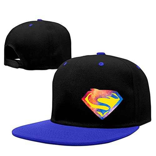 Custom Unisex-Adult Super Sharks Logo Flat Brim Trucker Hats Caps RoyalBlue