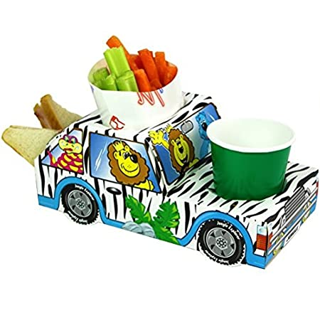 X15 Jungle Animal Safari Lion Jeep Party Meal Food Trays Lunch