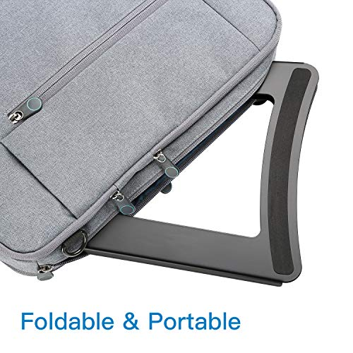 Laptop Stand - Height Adjustable Tablet Stand with 5 Tilt Levels & Anti-Slip Pads for Laptops, Computers, MacBook, Laptop Riser with Open Back for Ventilation Prevents Overheating by HUANUO (Image #5)