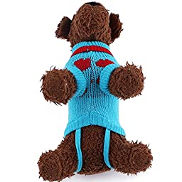 Cute Pet Puppy Cat Dog Warm Jumper Sweater Knitwear Coat Apparel Clothes Random Color by Awtang Size6