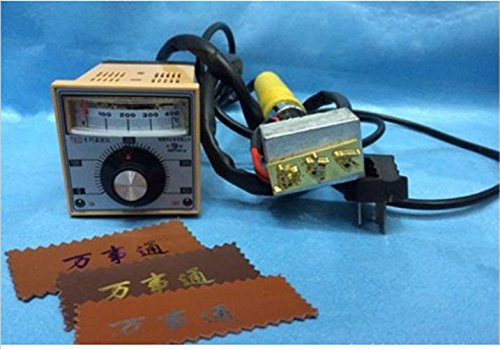 220V Manual Hot Foil LOGO Stamping Marking Machine Leather PVC Printer by opne