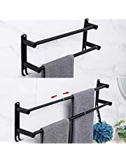 【Telescopic New Type】 Towel Bar, Bathrobe, Towel Hook, Towel Ring Towel Rack for 3M Colloid, SUS304 Stainless Steel, in Bathroom, Kitchen, No Screws 19.7 Inch-31.5 Inch