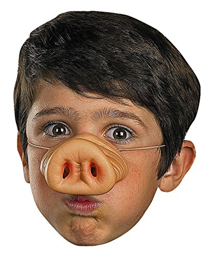 Maze Humorous Festive Silicone Realistic Pig Nose Kids Prop For Halloween, 1- One Size -
