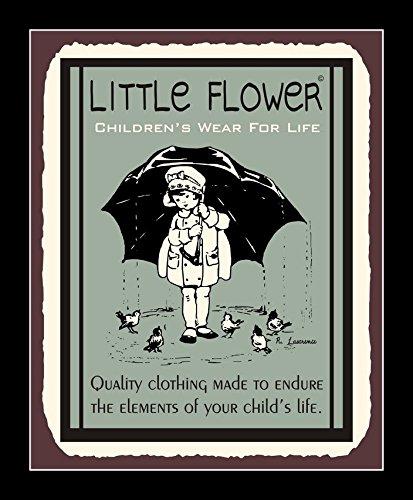 8 x 10 All Wood Framed Photo Little Flower Children's Wear Tin Sign