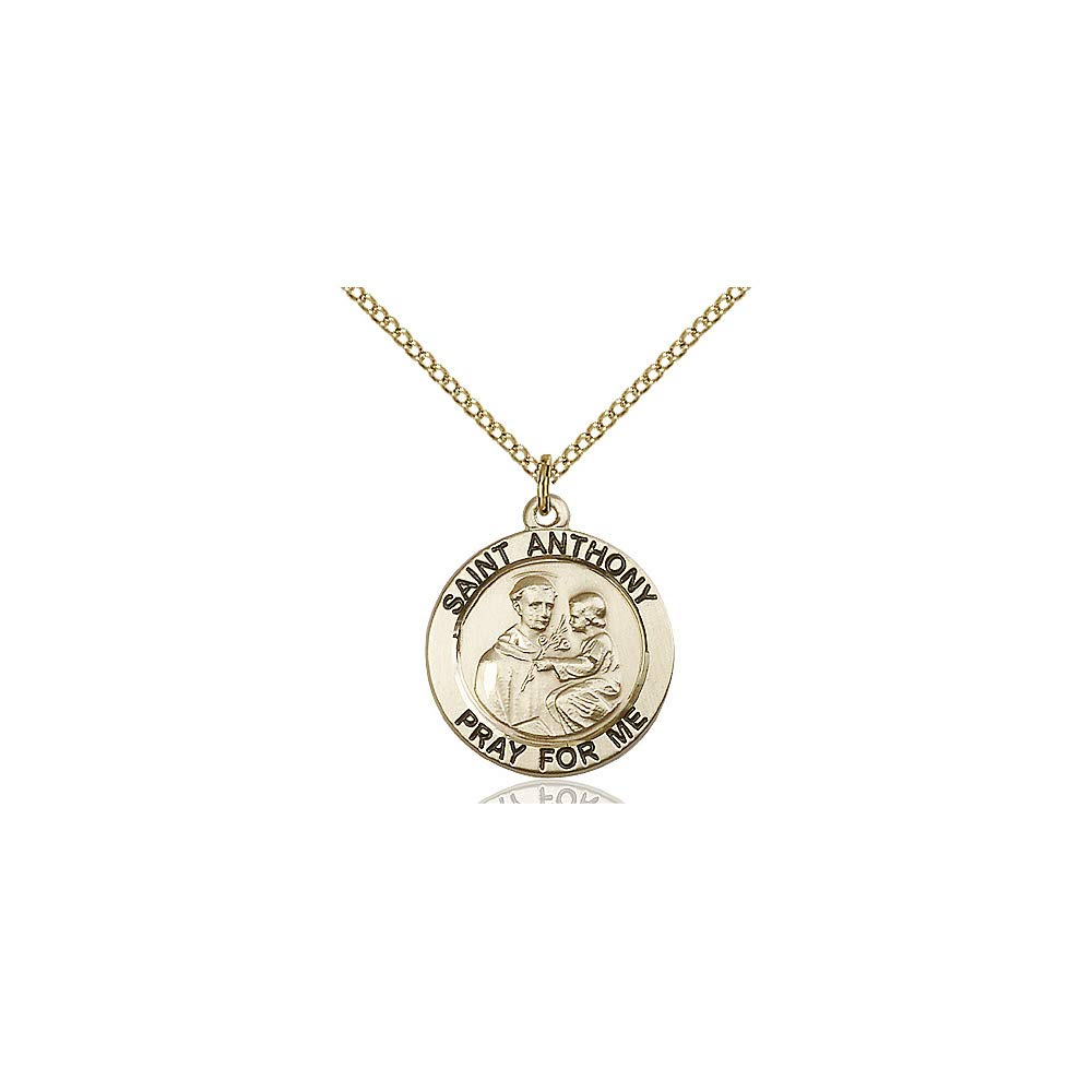 Anthony of Padua Pendant DiamondJewelryNY 14kt Gold Filled St