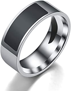 Smart Finger Ring,OOOUSETitanium Steel NFC Smart Chip, 2.07 * 2.07 * 0.8cm,Black