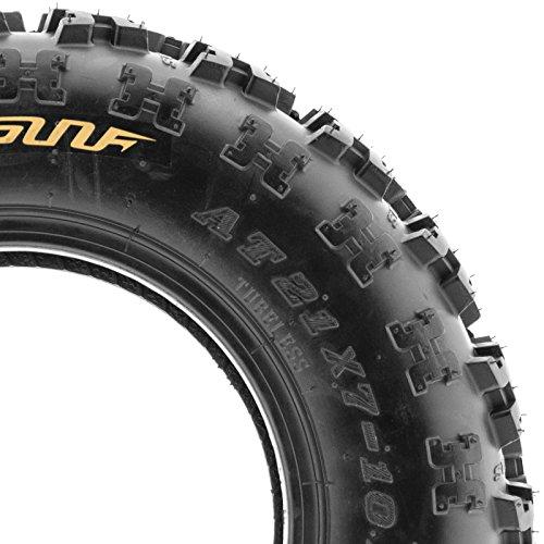 SunF 22x7-11 & 20x10-9 Knobby Sport ATV Tires 6 PR A027 (Full set of 4) by SunF (Image #5)