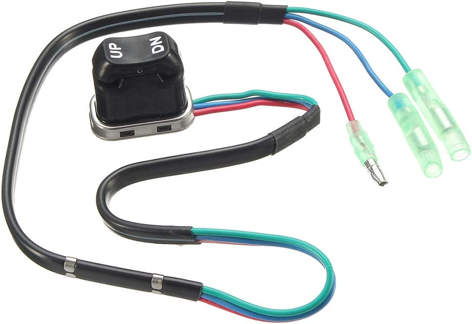 heacker Recorte y Universal conmutador de Cambio de inclinaci/ón para el Controlador Remoto Yamaha Motor Externo Interruptor 703-82563-01-00