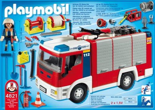 Playmobil 4821 Feuerwehr Rüstfahrzeug Amazon De Spielzeug