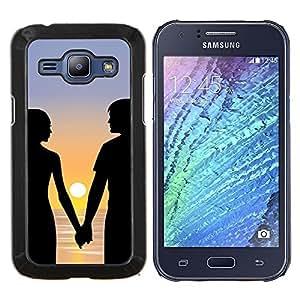 LECELL--Funda protectora / Cubierta / Piel For Samsung Galaxy J1 J100 -- Romance Sunset --