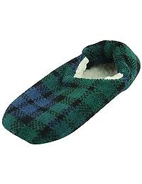 Forfoot Unisex Women's Men's Non-Skid Soft Sole Coral Fleece Slipper Socks